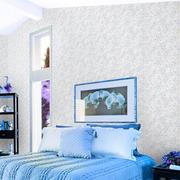 紫色系简约风格卧室墙衣装饰