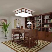 简约中式书房书架