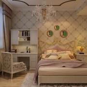 三室一厅简约风格卧室背景墙装饰