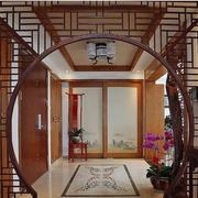 中式风格简约客厅拱门装饰