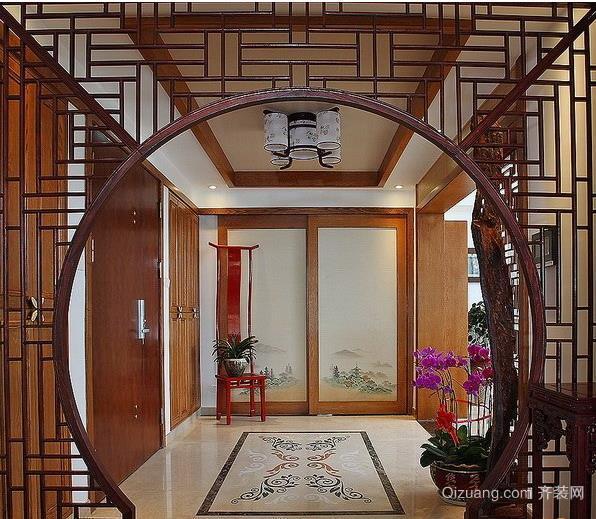 中式拱门客厅装修效果图