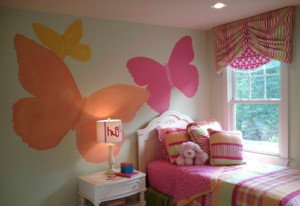 儿童房手绘墙装修效果图