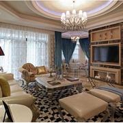 欧式风格奢华客厅电视背景墙装饰