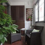 后现代风格深色系阳台装饰