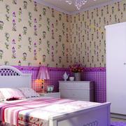 简约风格儿童房印花背景墙装饰