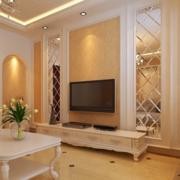 欧式简约风格客厅墙饰设计