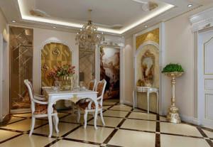 欧式风格客厅石膏板吊顶设计