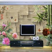 中式简约风格客厅电视墙饰设计