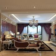 欧式风格奢华客厅吊顶装饰