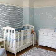 美式风格蓝色系儿童房装饰