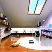 后现代风格阁楼客厅置物架装饰
