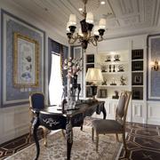 法式风格奢华书房吊顶装饰