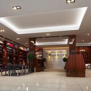 中式风格烟酒店简约石膏板吊顶装饰