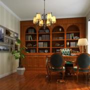 美式简约风格书房书柜装饰