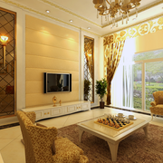 欧式风格客厅奢华吊顶装饰