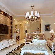 欧式奢华电视墙装饰