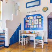 简约风格蓝色系餐厅背景墙装饰