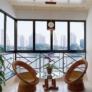 阳台简约风格窗户装饰