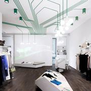 简约风格白色系服装店设计