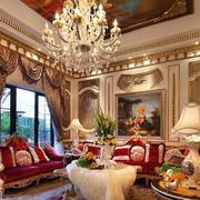 宏伟奢华法式风格吊顶装饰