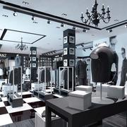 后现代风格服装店精致吊顶装饰