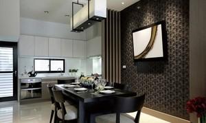 三居室餐厅背景墙装修效果图