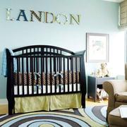 美式风格儿童房背景墙装饰