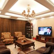 欧式风格客厅石膏板吊顶装饰