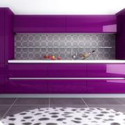 厨房橱柜欧式紫色款