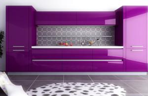 厨房烤漆橱柜门板装修效果图