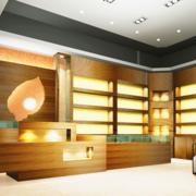 日式简约风格烟酒店置物架装饰