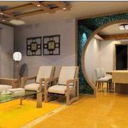 东南亚风格简约客厅拱形门装饰