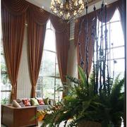 欧式简约风格客厅窗帘效果图