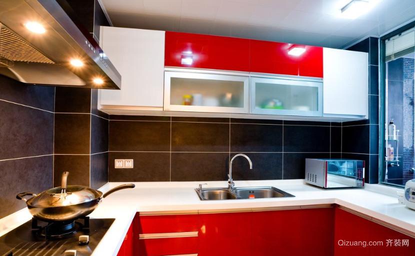 120㎡现代简约风格厨房装修效果图欣赏