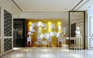 客厅形象墙金色款