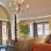 欧式简约风格别墅卧室窗帘装饰