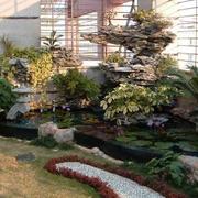 屋顶花园假山装饰