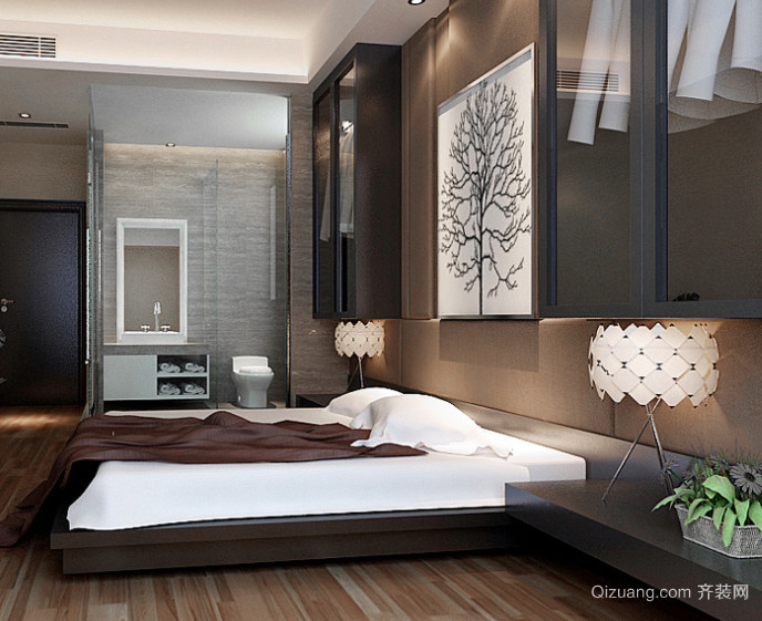 30平米韩式田园风格卧室装修效果图