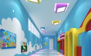 幼儿园童真墙体彩绘装修效果图