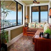 日式简约风格阳台沙发椅装饰