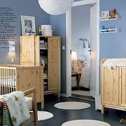 欧式简约儿童房原木衣柜装饰