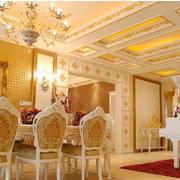 欧式奢华风格餐厅桌椅装饰