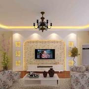 韩式田园风格电视背景墙装饰