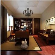 中式简约风格书房窗帘装饰