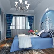 蓝色梦幻的卧室