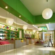 清新风格创意水果店置物柜
