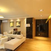 后现代风格简约客厅电视装饰