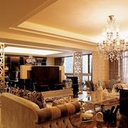 欧式简约风格石膏板客厅吊顶装饰