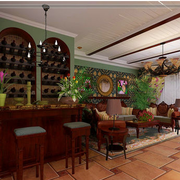 东南亚简约风格厨房吧台装饰