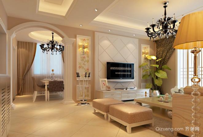 现代简欧式奢华别墅客厅装修效果图